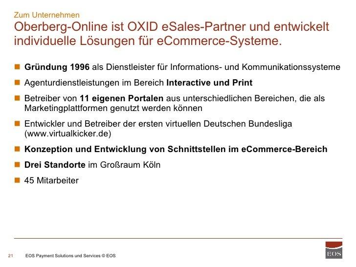 Zum Unternehmen Oberberg-Online ist OXID eSales-Partner und entwickelt individuelle Lösungen für eCommerce-Systeme. <ul><u...