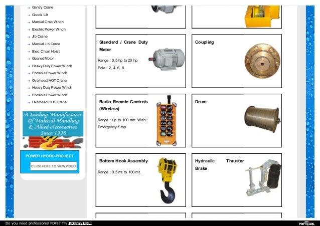 Overhead Crane Parts Diagram | Eot Crane Spare Part Dealers