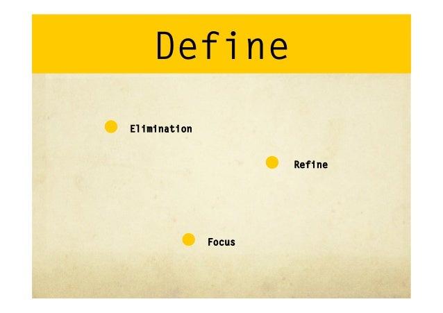 Define•Scope•Stakeholders•Environment•Impact