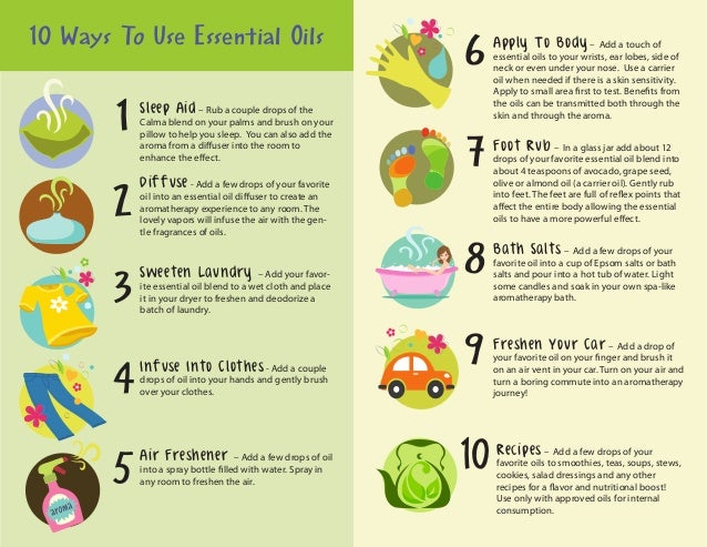 essential oils guide chart pdf