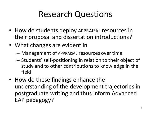 graduate dissertation proposal