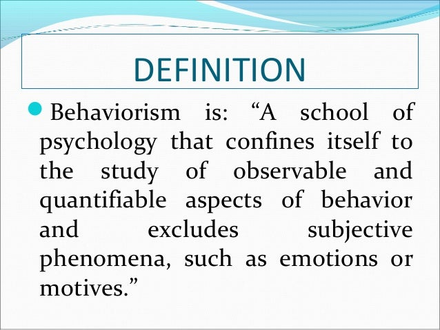 the adolescence and behaviorism in the psychology Clinical child & adolescent psychology clinical health psychology clinical neuropsychology clinical the specialty of behavioral and cognitive psychology emphasizes an experimental-clinical approach to the application of behavioral and cognitive sciences to understand human behavior and.
