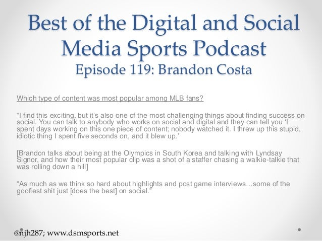 Episode 118 Snippets: Brandon Costa of Sports Video Group