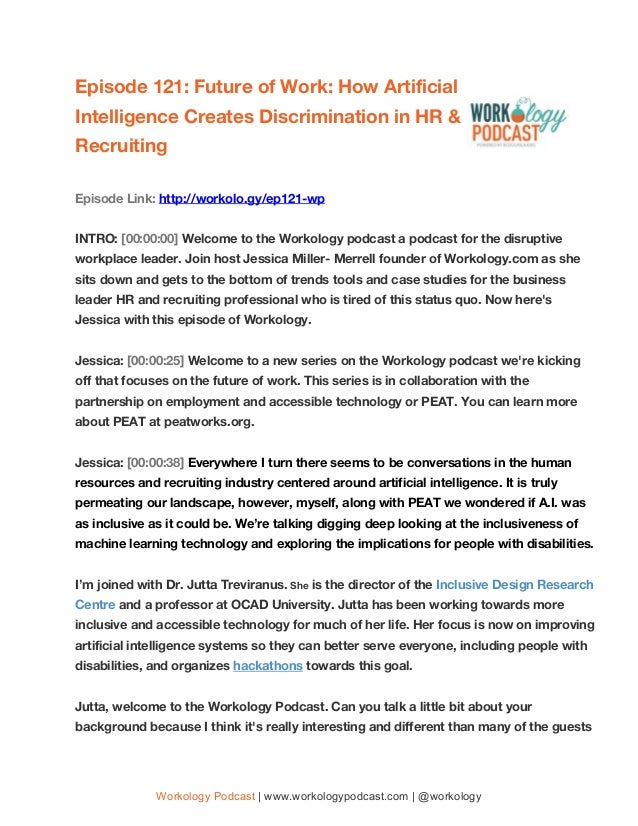 Episode 121: Future of Work: How Artificial Intelligence Creates Discrimination in HR & Recruiting...