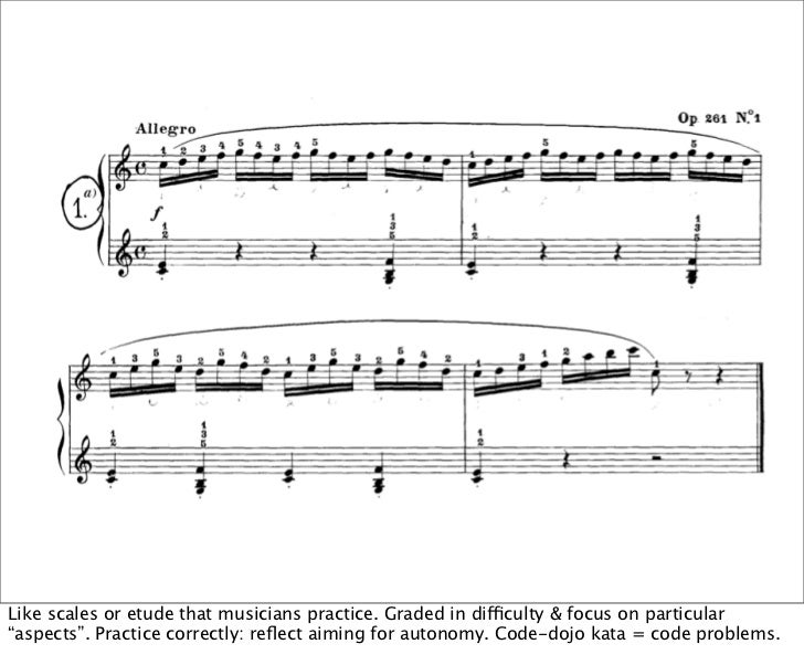"Like scales or etude that musicians practice. Graded in difficulty & focus on particular""aspects"". Practice correctly: refl..."