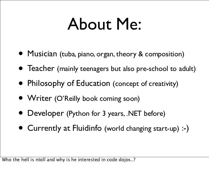 About Me:       • Musician (tuba, piano, organ, theory & composition)       • Teacher (mainly teenagers but also pre-schoo...