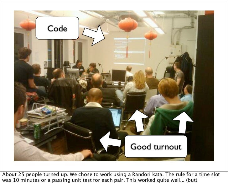 Code                                                    Good turnoutAbout 25 people turned up. We chose to work using a Ra...