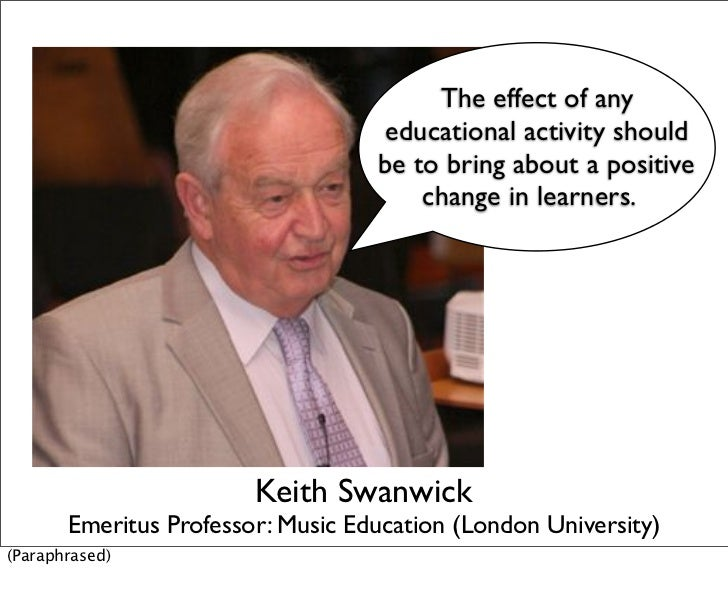 The effect of any                                   educational activity should                                   be to br...