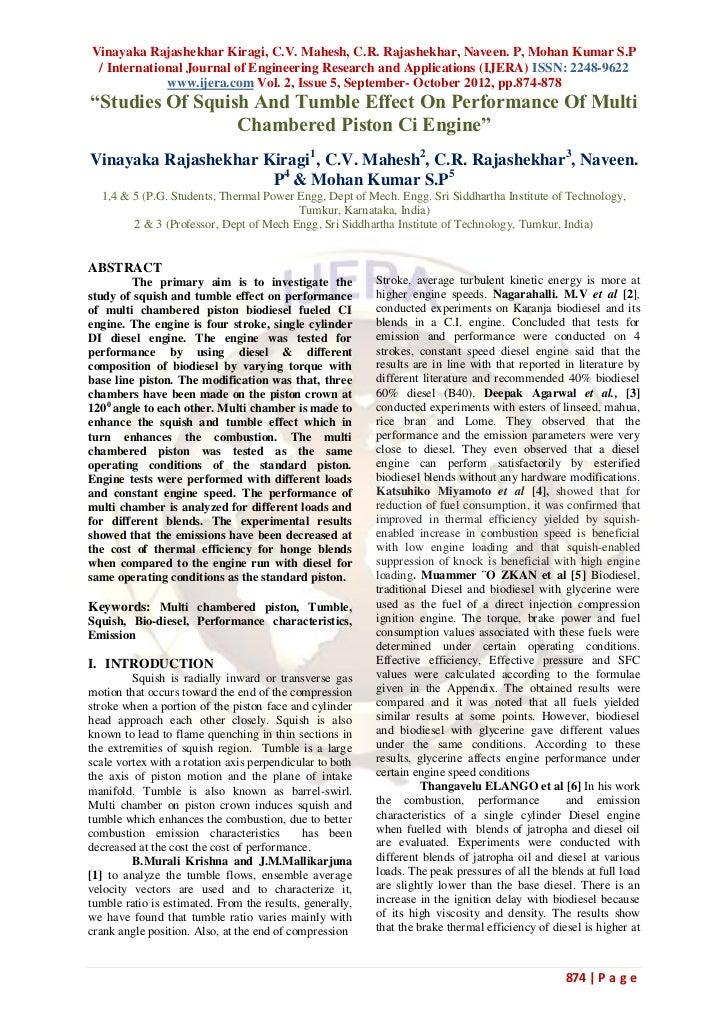 Vinayaka Rajashekhar Kiragi, C.V. Mahesh, C.R. Rajashekhar, Naveen. P, Mohan Kumar S.P / International Journal of Engineer...
