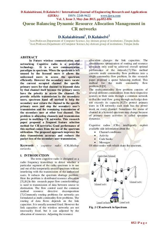 D.Kalaiabirami, D.Kalaiselvi / International Journal of Engineering Research and Applications(IJERA) ISSN: 2248-9622 www.i...