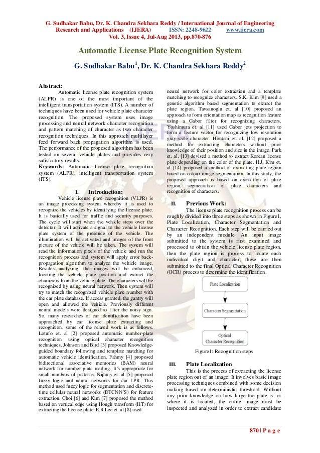 G. Sudhakar Babu, Dr. K. Chandra Sekhara Reddy / International Journal of Engineering Research and Applications (IJERA) IS...