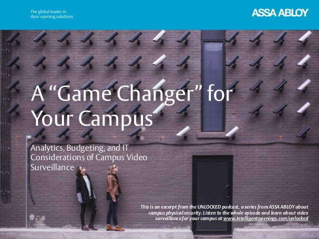 "A ""Game Changer"" for Your Campus This is an excerpt from the UNLOCKED podcast, a series from ASSA ABLOY about campus physi..."