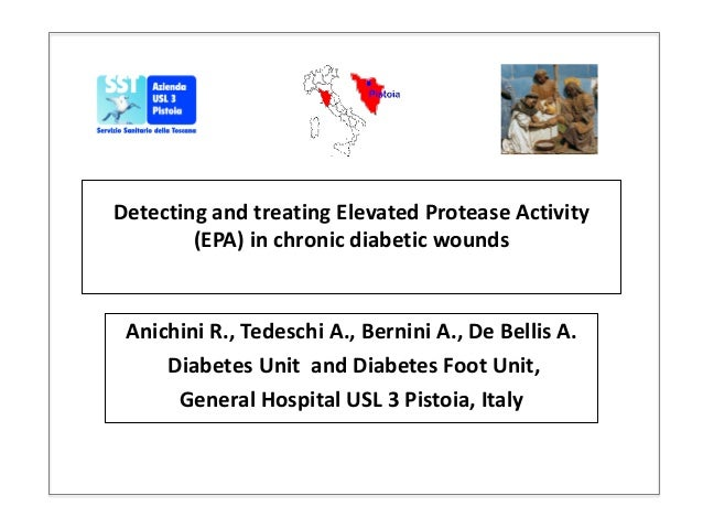 Detecting and treating Elevated Protease Activity (EPA) in chronic diabetic wounds Anichini R., Tedeschi A., Bernini A., D...