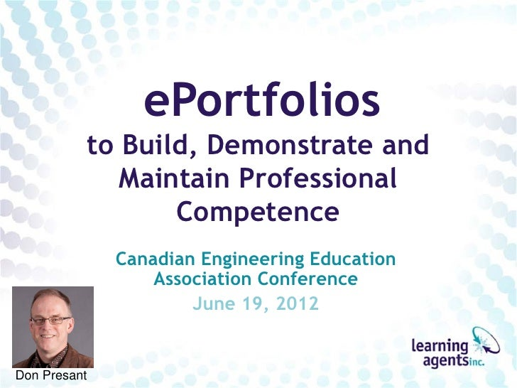 ePortfolios          to Build, Demonstrate and             Maintain Professional                 Competence              C...