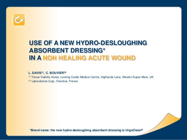 USE OF A NEW HYDRO-DESLOUGHING ABSORBENT DRESSING* IN A NON HEALING ACUTE WOUND L. DAVIS(1), C. BOUVIER(2) (1) Tissue Viab...