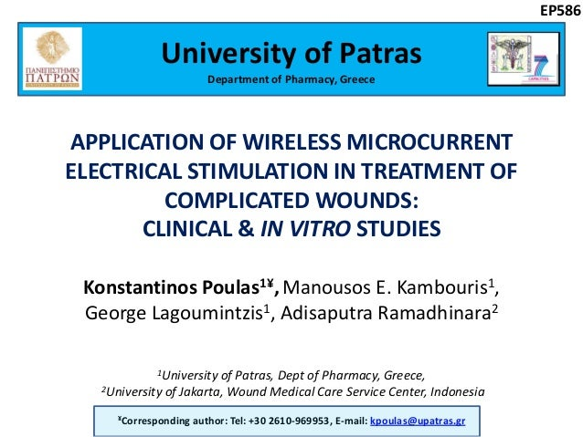 APPLICATION OF WIRELESS MICROCURRENT ELECTRICAL STIMULATION IN TREATMENT OF COMPLICATED WOUNDS: CLINICAL & IN VITRO STUDIE...