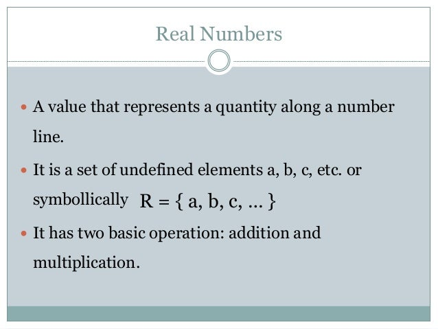 REAL NUMBER DEFINITION EBOOK