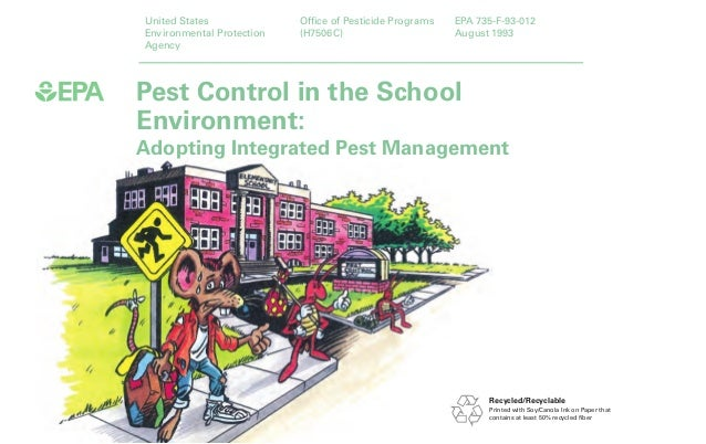 Pest Control In The School Environment: Adopting Integrated Pest Management  United States Environmental Protection ...