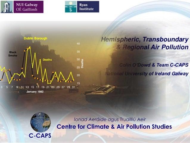 Hemispheric, Transboundary & Regional Air Pollution Colin O'Dowd & Team C-CAPS National University of Ireland Galway Dubli...