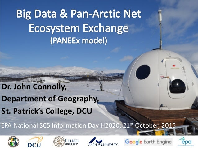 Dr. John Connolly, Department of Geography, St. Patrick's College, DCU EPA National SC5 Information Day H2020, 21st Octobe...