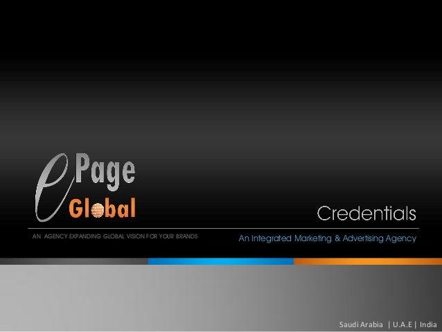 An Internationa Advertising & Marketing Agency- Epage ...