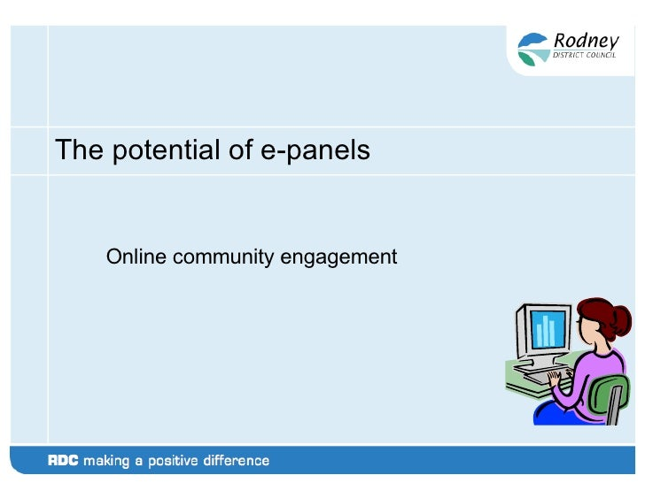 The potential of e-panels Online community engagement