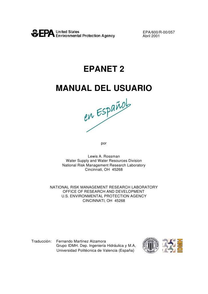 EPA/600/R-00/057                                                              Abril 2001                             EPANE...
