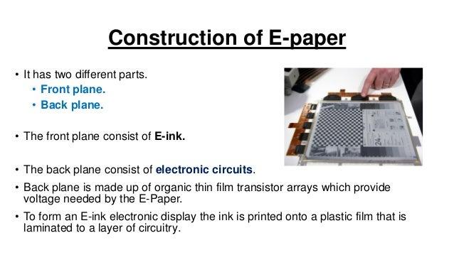electronic paper e paper rh slideshare net Electronic Paper Cutting E-Paper Pakistan
