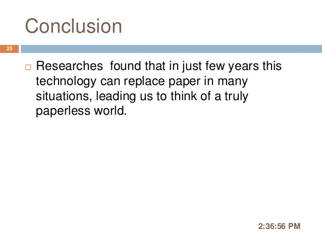 paper technology ppt Journal of telecommunications, volume 2, issue 2, may 2010 104 holographic projection technology: the world.
