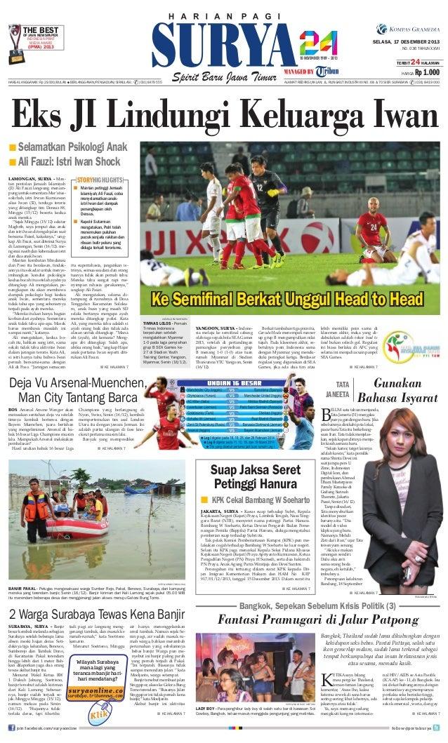 THENEWSPAPER BEST OF JAVA INDONESIA PRINT MEDIA AWARD  SELASA, 17 DESEMBER 2013  (IPMA) 2013  NO. 036 TAHUN XXVII TERBIT  ...