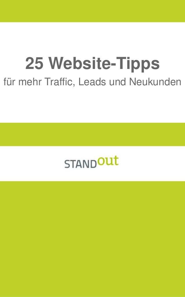 für mehr Traffic, Leads und Neukunden 25 Website-Tipps