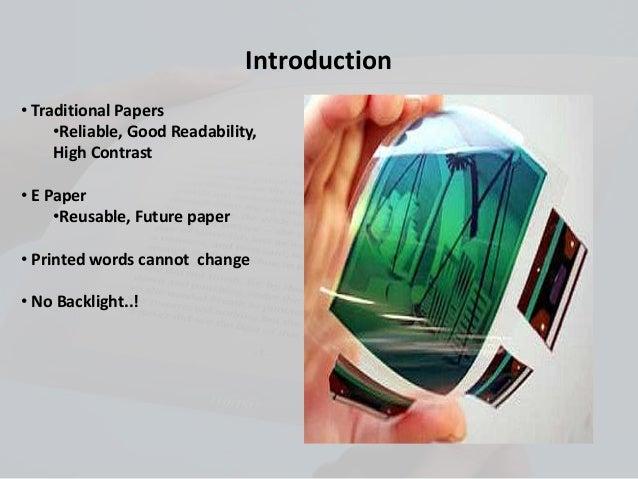 e paper slides