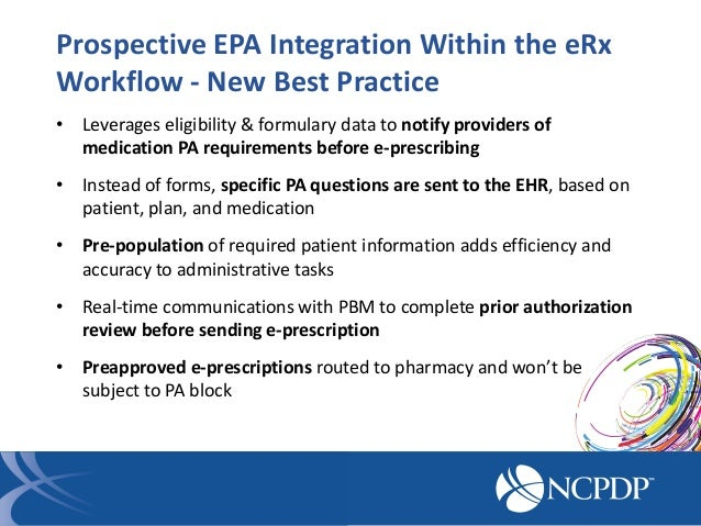 Care Delivery with Electronic Prior Authorization 5-7-14 NCPDP Confe…