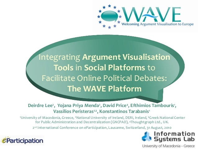 Place your organisation logo here Integrating Argument Visualisation Tools in Social Platforms to Facilitate Online Politi...