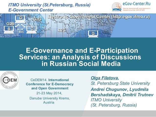 GG BB CC ITMO University (St.Petersburg, Russia) E-Government Center GG GG2С2С GG22BB BB22CC GG22GG Electronic Government ...