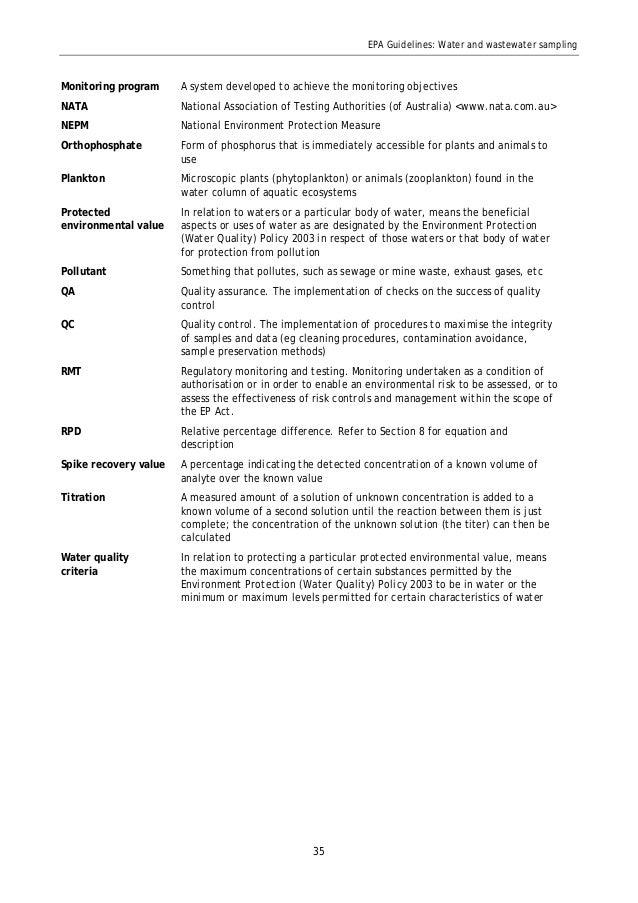 water sampling testing australia pdf