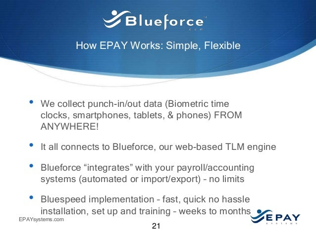 Epay Systems Time And Attendance Solutions For A