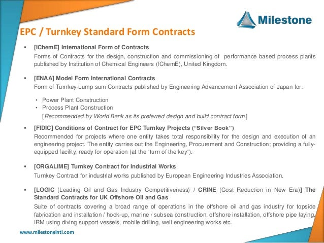 Epc - Lstk Standard Contract Forms