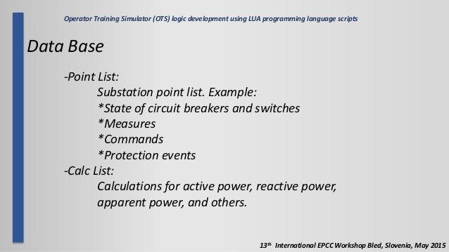 Operator Training Simulator (OTS) logic development using