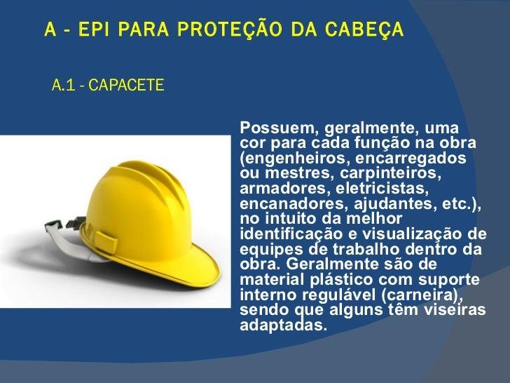 8636718368b28 LISTA DE EQUIPAMENTOS DE PROTEÇÃO INDIVIDUAL  28. A - EPI ...