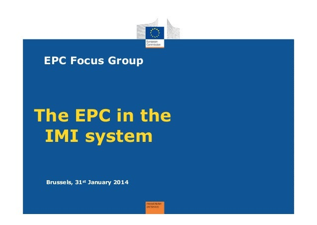 Epc in imi   focus group pm