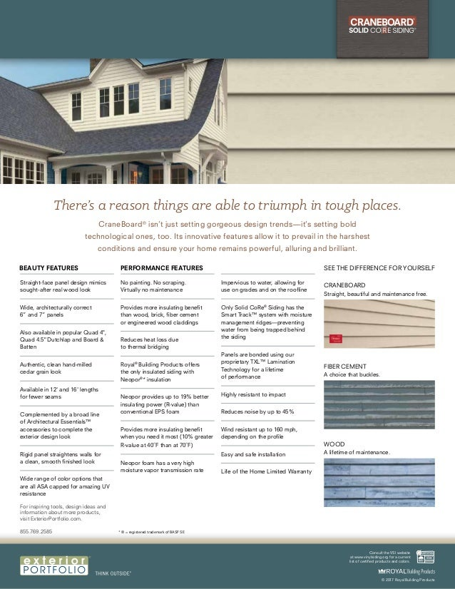 """Straight-face panel design mimics sought-after real wood look Wide, architecturally correct 6"""" and 7"""" panels Also availabl..."""