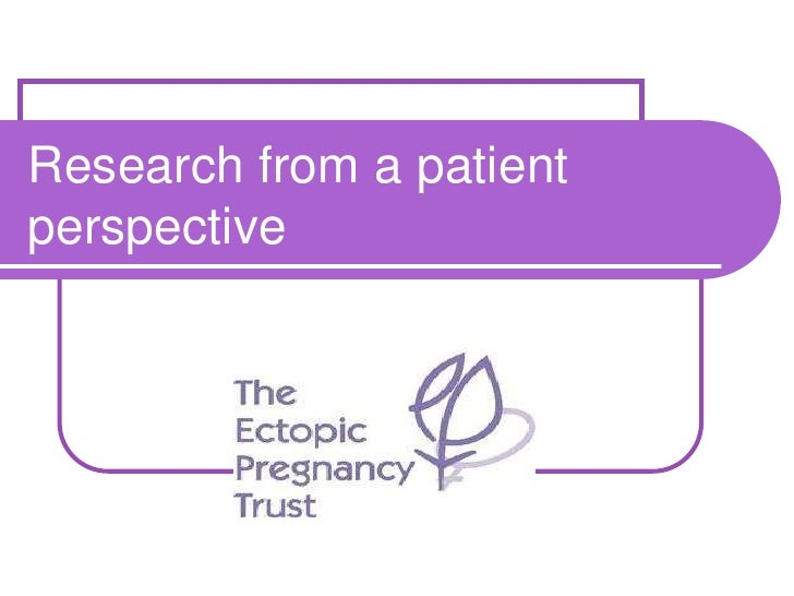 Research from a patient perspective<br />