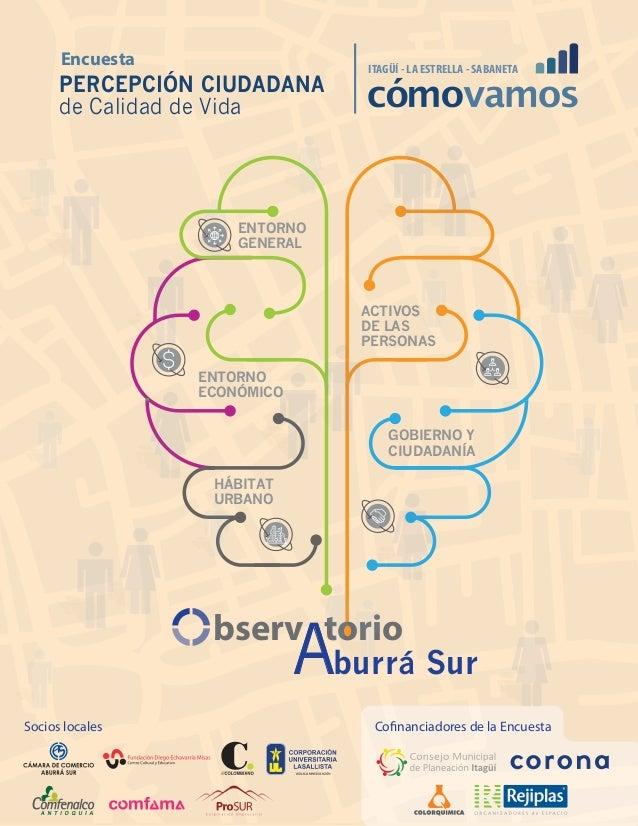 bserv torio Aburrá Sur ENTORNO GENERAL ENTORNO ECONÓMICO ACTIVOS DE LAS PERSONAS HÁBITAT URBANO GOBIERNO Y CIUDADANÍA ITAG...