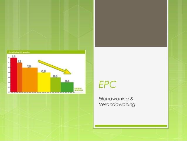 EPC  Eilandwoning &  Verandawoning