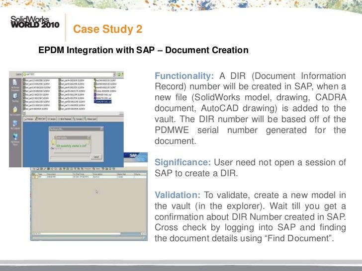 Sap erp integration case study