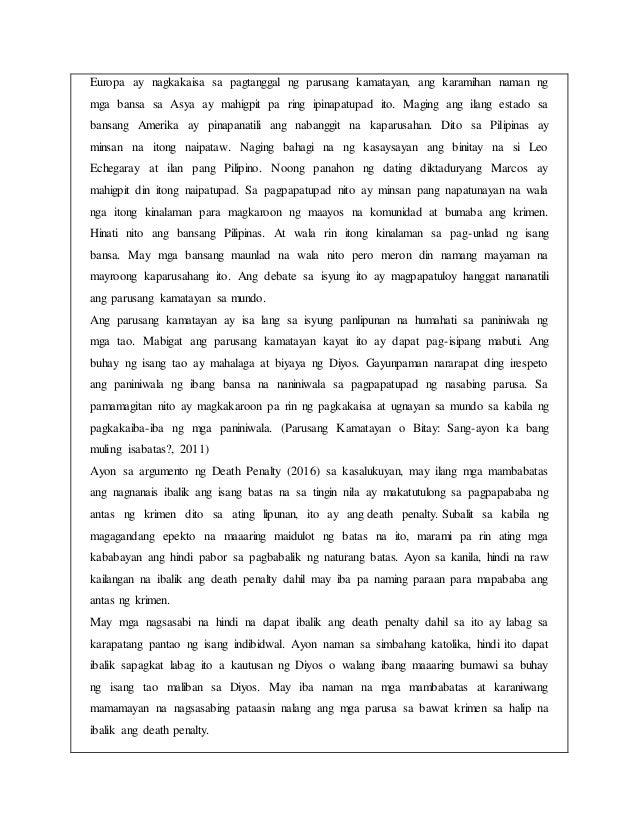 epekto ng parusang kamatayan Ang 1987 konstitusyon ng republika ng pilipinas  dapat ibaba sa reclusion perpetua ang naipataw nang parusang kamatayan (2) dapat lapatan ng kaukulang batas ang.