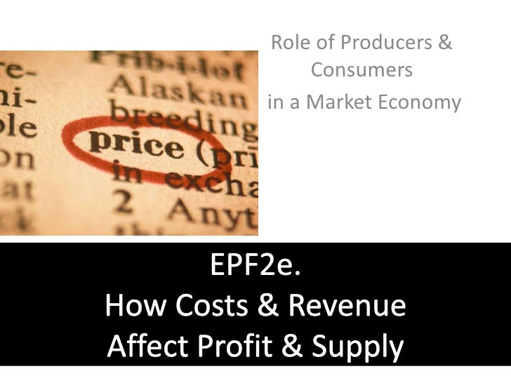 Role of Producers & Consumers<br /> in a Market Economy<br />EPF2e. How Costs & Revenue Affect Profit & Supply<br />
