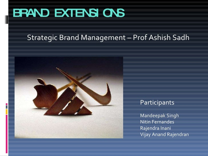 brand extensions Effective branding strategy allows companies to distinguish themselves from their competitors in the market in this module, we will learn how to build a strong brand, explore how brand equity affects profitability, and understand how strong brands can leverage their equity to create successful extensions.