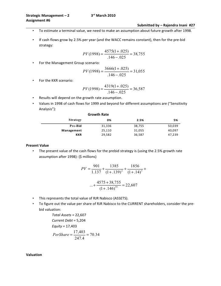 rjr nabisco case study solution ppt